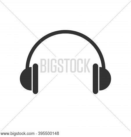 Headphones Vector Icon. Headset Symbol. Earphone Sign. Volume And Audio Sound Logo. Radio And Podcas