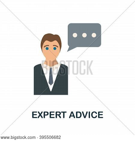 Expert Advice Icon. Simple Element From Human Resources Collection. Creative Expert Advice Icon For