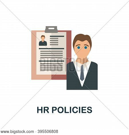 Hr Policies Icon. Simple Element From Human Resources Collection. Creative Hr Policies Icon For Web