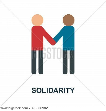 Solidarity Icon. Simple Element From Human Resources Collection. Creative Solidarity Icon For Web De