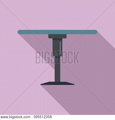 Folding Round Table Icon. Flat Illustration Of Folding Round Table Vector Icon For Web Design