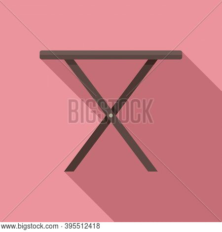 Folding Small Table Icon. Flat Illustration Of Folding Small Table Vector Icon For Web Design