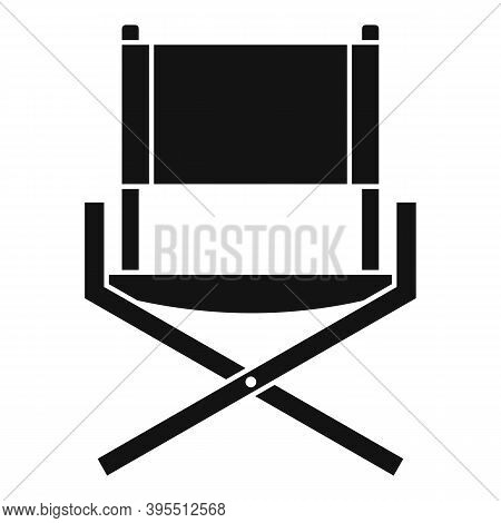 Folding Textile Chair Icon. Simple Illustration Of Folding Textile Chair Vector Icon For Web Design
