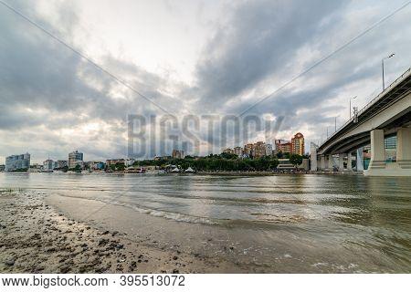 Bridge Over The River Don. Rostov-on-don. Russia.
