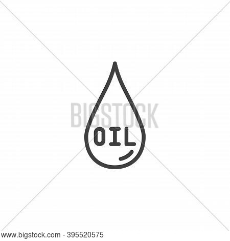 Crude Oil Drop Line Icon. Linear Style Sign For Mobile Concept And Web Design. Oil Drop Outline Vect