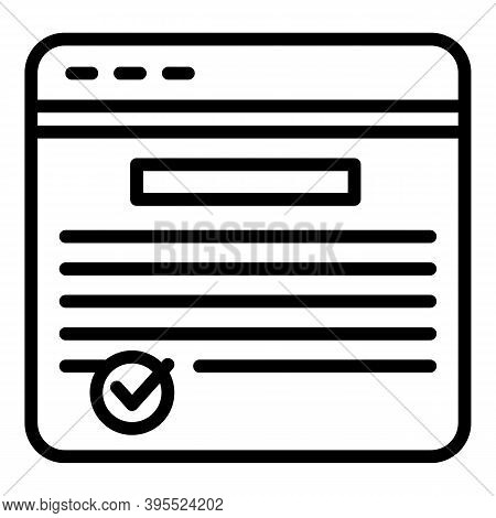 Web Page Ebook Icon. Outline Web Page Ebook Vector Icon For Web Design Isolated On White Background