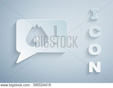 Paper Cut Telephone With Emergency Call 911 Icon Isolated On Grey Background. Police, Ambulance, Fir