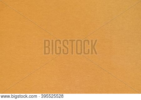 Homogeneous Mustard Color Texture Surface. Yellow Ocher, Fabric, Background.