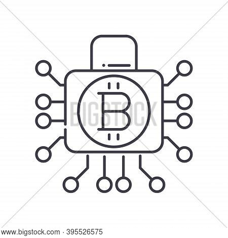 Cryptography Icon, Linear Isolated Illustration, Thin Line Vector, Web Design Sign, Outline Concept