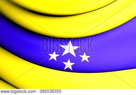 3d Flag Of Pacatuba (ceara), Brazil. 3d Illustration.