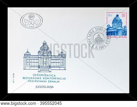 Yugoslavia - Circa 1981 : Cancelled Postage Stamp Printed By Yugoslavia, That Shows National Assembl