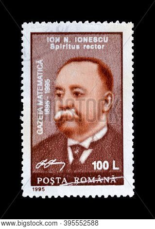 Romania - Circa 1995 : Cancelled Postage Stamp Printed By Romania, That Shows Portrait Of Ion Ionesc