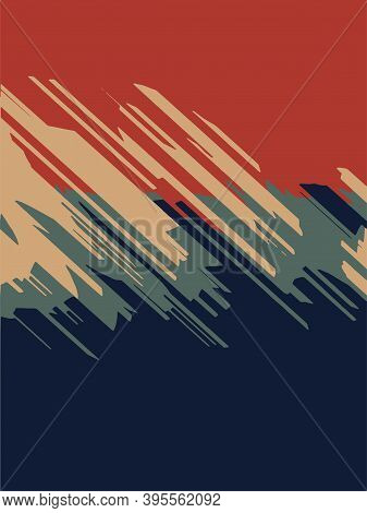 Simple Abstract Background With Diagonal Lines. Vector Illustration