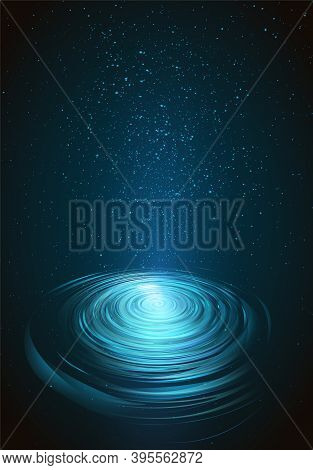 Abstract Background With Blue Circle. Vector Illustration