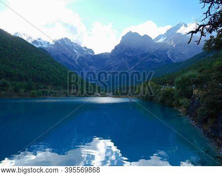 Blue Moon Valley With Jade Dragon Snow Mountain In Lijiang, Yunnan, China