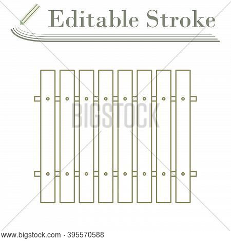 Icon Of Construction Fence In Ui Colors. Editable Stroke Simple Design. Vector Illustration.