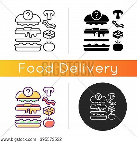 Food Constructor Icon. Setting Meal Preferences. Putting Ingredients Together. Building Flavours. Co