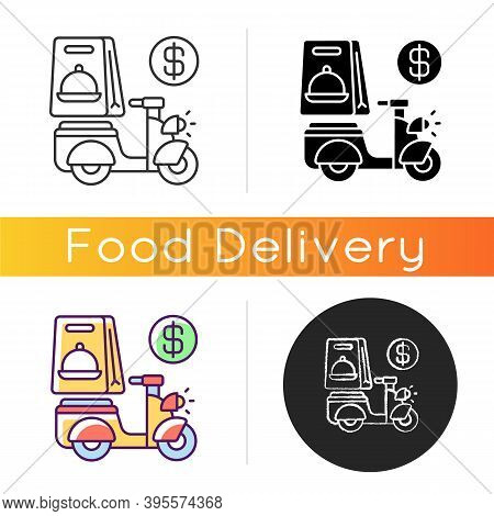 Delivery Fee Icon. Courier Service. Online Ordering. Collecting Money From Consumers. Cashless Payme