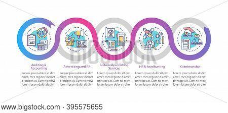 Business Advisory Service Vector Infographic Template. Advertising, Grants Presentation Design Eleme