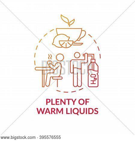 Warm Liquids Concept Icon. Effective Remedy For Killing Bacteria Idea Thin Line Illustration. Improv