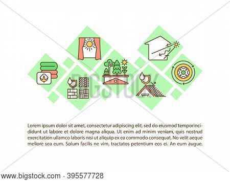 Sustainable Architecture Concept Icon With Text. Green House. Natural Materials. Environment Protect