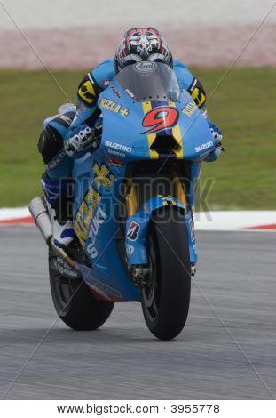 Japanese Nobuatsu Aoki Of Rizla Suzuki Motogp At 2008 Polini Malaysian Motorcycle Grand Prix Sepang,