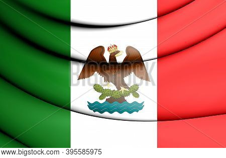 3d Flag Of First Mexican Empire. 3d Illustration.
