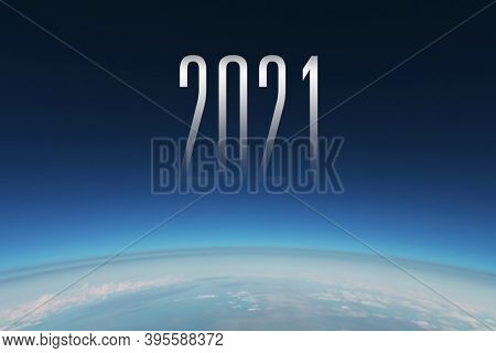 2021 New Year in Space Background