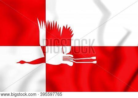 3d Flag Of Cranendonck (north Brabant), Netherlands. 3d Illustration.