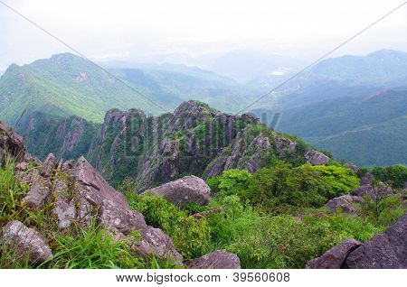 rocks on the mountaintop