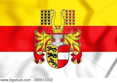 3d Flag Of Carinthia, Austria. 3d Illustration.