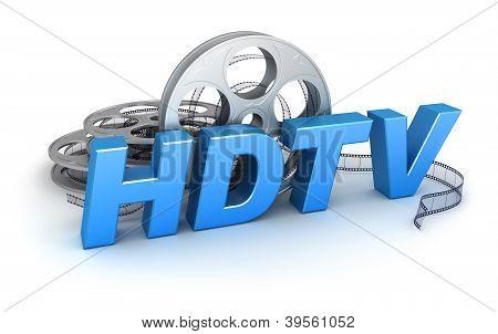 HDTV Video. Concept icon
