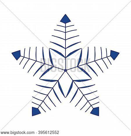 Snowflake Simple Line Logo. Winter Isolate Icon. Jpeg