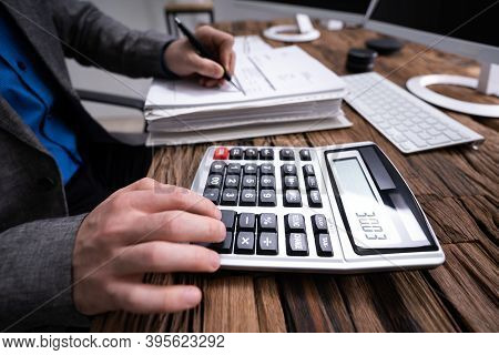 Business Invoices Audit And Calculating Corporate Finance Audit
