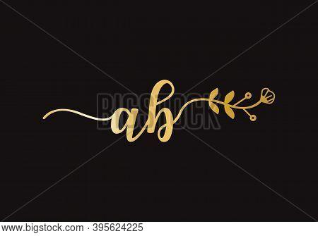 Luxury Ab Letter Logo Design. Elegant Ab Logo Design For Restaurant, Royalty, Boutique, Cafe, Hotel,