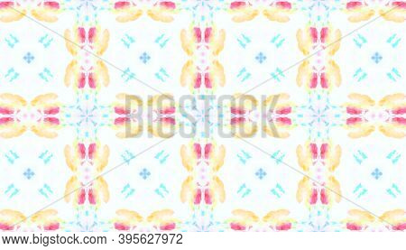 Seamless Watercolour Tile Design. Watercolor Artistic Material Design. Colorful Summer Background. A