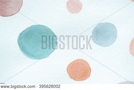Teal Scribble Circle Pattern. Geometric Radial Wallpaper. Color Abstract Confetti. Children Carpet D
