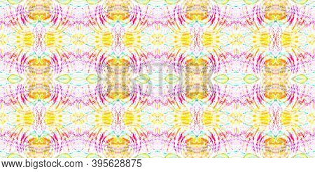 Seamless Azulejo Ornament. Multi Colorful Repeat. Geometric Boho Background. Ink Textured Fabric Des