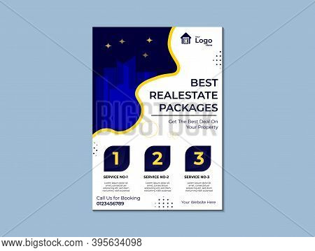 Real Estate Corporate Flayer Vector Tm Plate, Real Estate Development Company Promotion Flayer Templ