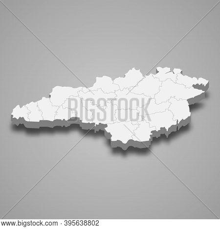 3d Isometric Map Of Kirovohrad Oblast Is A Region Of Ukraine