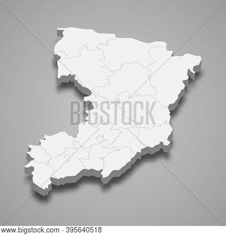 3d Isometric Map Of Rivne Oblast Is A Region Of Ukraine