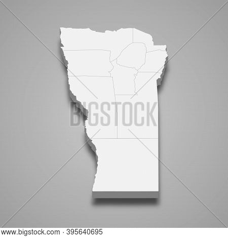3d Isometric Map Of San Luis Is A Province Of Argentina