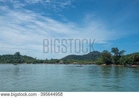 Ranong, Thailand - September 21, 2020 : View Of Koh Phayam Island In Andaman Sea ,ranong Province So