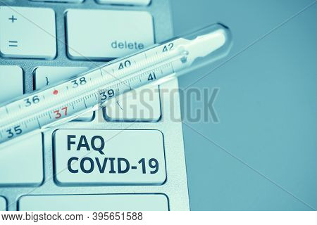 Answers And Questions Concept Faq Covid-19 Symptoms.