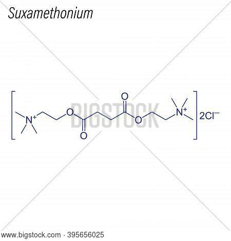 Vector Skeletal Formula Of Suxamethonium. Drug Chemical Molecule