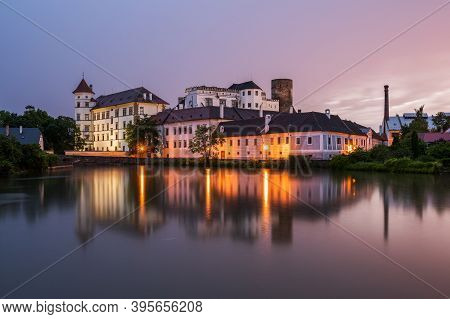 Castle And Chateau Jindrichuv Hradec And Vajgar Pond