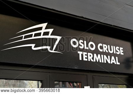 Oslo, Norway - Aug. 29th 2020: Oslo Cruise Terminal, Entry Point For Cruise Ships Visiting Norway.