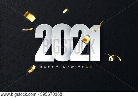 2021 New Year Luxury Illustration On Dark Background. Happy New Year Greetings