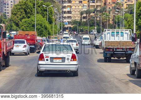 Cairo, Egypt - September 16, 2018: Traffic And Transportation, Cairo Has Ranked The Fourth Worst Cit