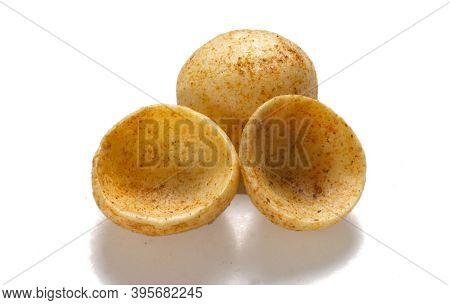 Crispy And Crunchy Salty Wheat Cup & Katori, Vatka, Moon Chips, Vatki, Fryums Or Frymus, Snack Food,
